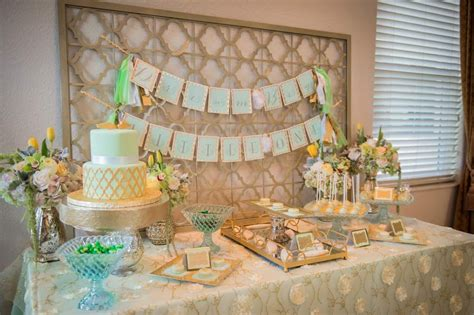 elegant mint  gold baptism party  celebration society