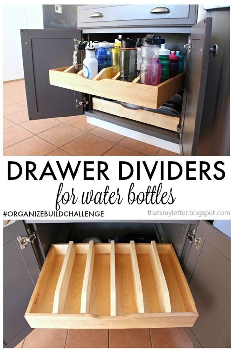 organize kitchen cabinets and drawers diy pull out drawer dividers for water bottles jaime 7216
