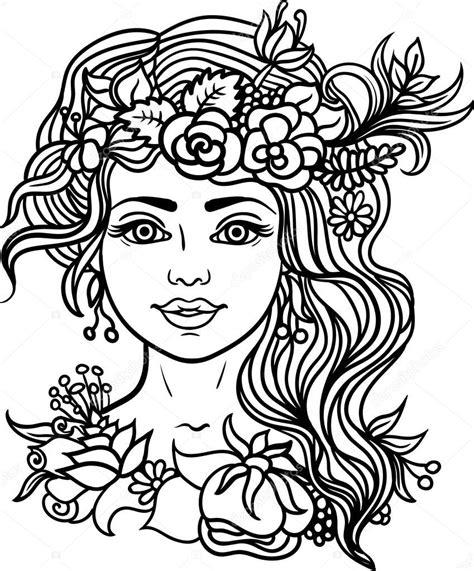 Kleurplaat Gezicht by Kleurplaat Gezicht Vrouw Kleurplaten Tekeningen
