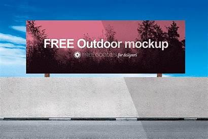 Mockup Psd Billboard Outdoor Advertising Horizontal Template