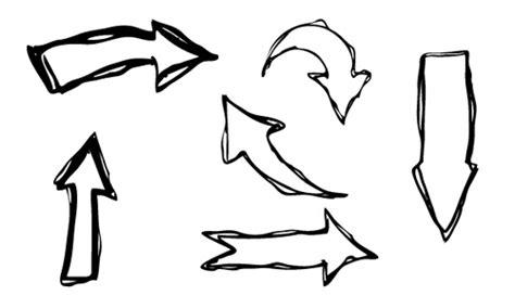 hand drawn arrows creative vector