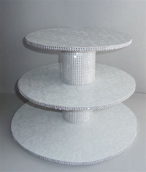 cake cupcake stand cupcake stand white wedding faux rhinestone foil buffet 2196