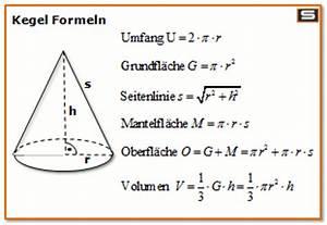 Kegel Höhe Berechnen : kreiskegel volumen berechnen mathe k rperberechnung ~ Themetempest.com Abrechnung