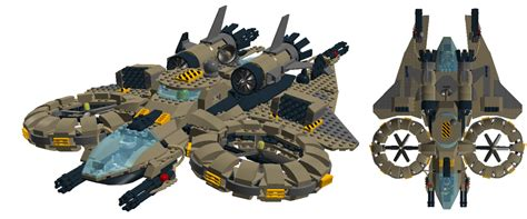 siege premium air lego sci fi human heavy assault helicopter by