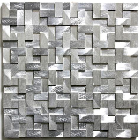 mosaique cuisine dalle mosaique aluminium carrelage cuisine crédence konik