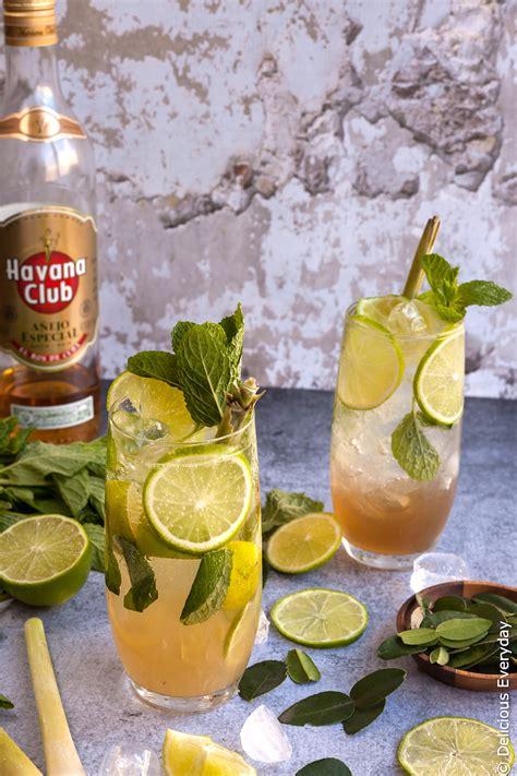 lemongrass cocktail recipe lemongrass kaffir lime and ginger mojito