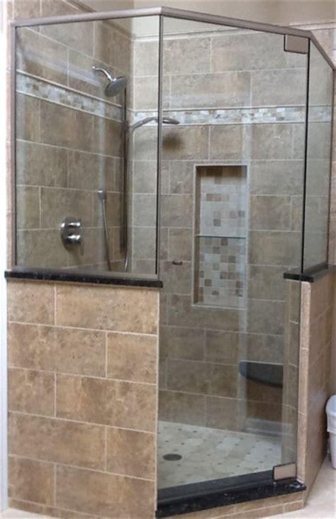 neo angle shower doors chicago neo angle glass shower doors chicago neo angle