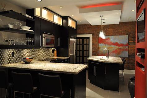 Kitchen Backsplash Ideas For Dark Cabinets - monte cristo granite kitchen contemporary with white cabinets square mosaic backsplash wall tiles
