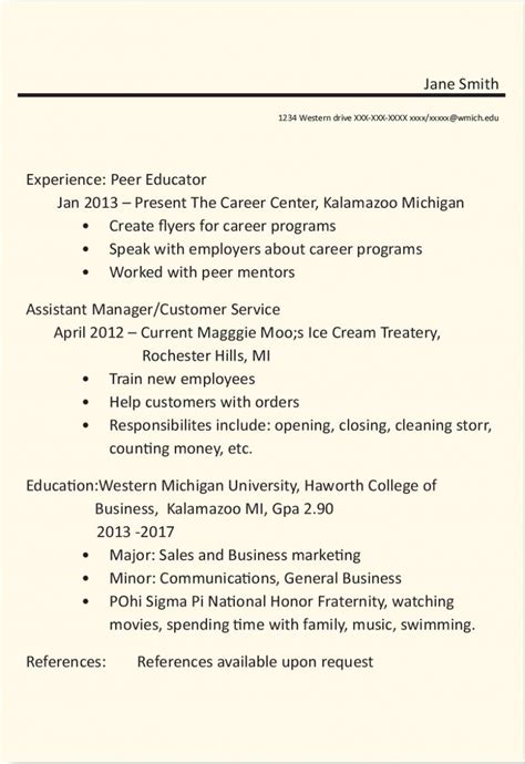 Career Services Resume Critique by Resume Before And After Career And Student Employment Services Western Michigan