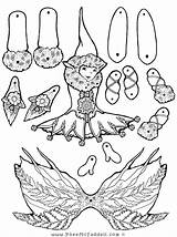 Puppet Coloring Fairy Paper Crafts Pages Elf Puppets Pheemcfaddell Dolls Feather Cut Halloween Printable Template Fern Outs Fairys Fairies Toys sketch template
