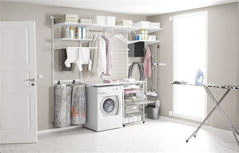 collapsible laundry laundry room keep things tidy elfa inspiration