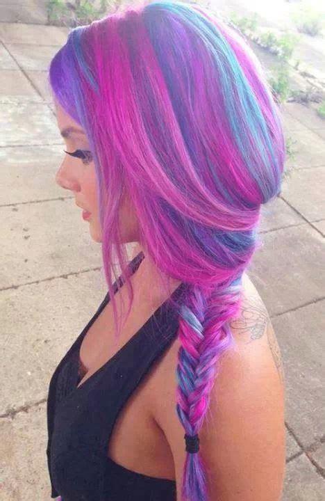 Pink Purple Hair Braid My Style Pinterest My Hair