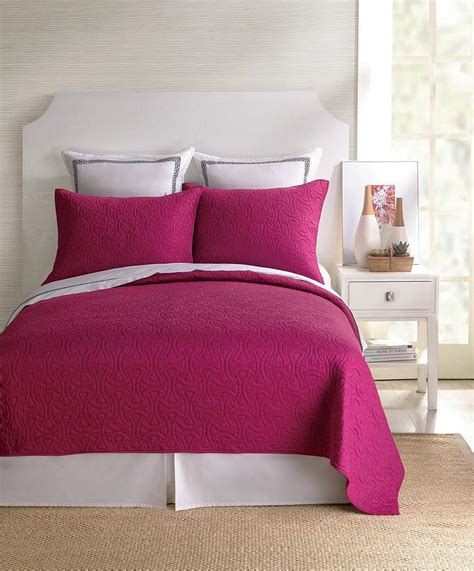 Bedroom Coverlets by Santorini Fuschia Coverlet By Bedding