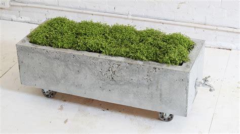 diy concrete planter episode  homemade modern youtube