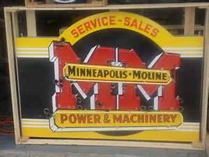 Used Farm Tractors for Sale Minneapolis Mone Neon Sign