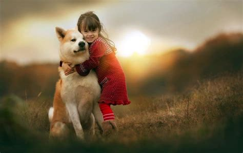 Childrens Animal Wallpaper - children with animals friends wallpapers