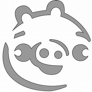 pig outline clipartsco With angry bird pig template