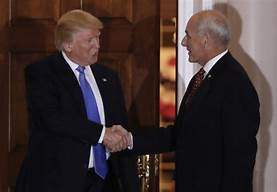 President Trump says John Kelly will be leaving at the end of the year…
