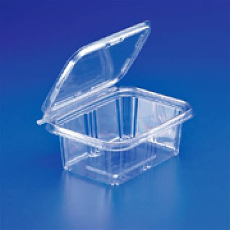 oz tamper evident clear hinged plastic container