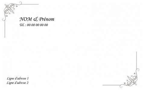 modèle carte de visite personnelle classique carte de visite particulier grand format carte familiale