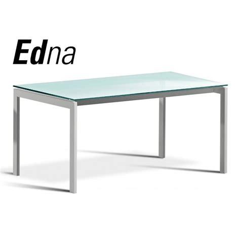 table ou grand bureau edna pi 233 tement acier peinture couleur plateau verre givr 233 d 233 poli