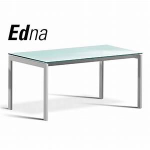 Plateau En Verre Pour Bureau : table ou grand bureau edna pi tement acier peinture ~ Dailycaller-alerts.com Idées de Décoration