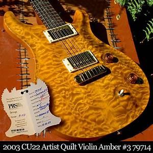 Paul Reed Smith Custom 22 Artist Quilt 2003 Violin Amber