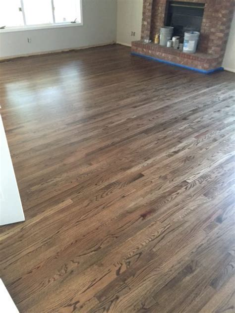 Install Red Oak 2R 1 with Dark Walnut Stain in Fort