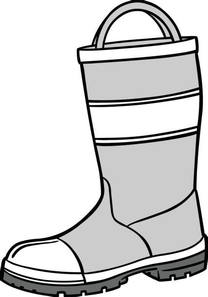 firefighter boots illustrations royalty  vector