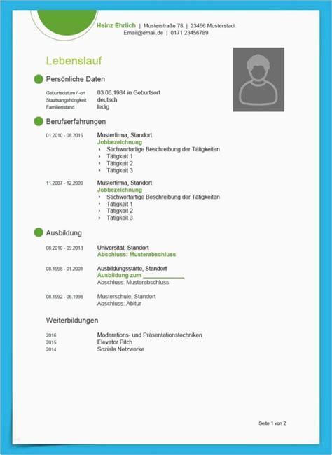 Lebenslauf Und Bewerbung Vorlage by Lebenslauf Vorlage Mit Foto Cool Kostenlose Lebenslauf