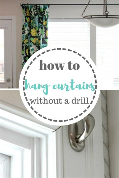 hang curtains without drilling 33 diy hacks for renters