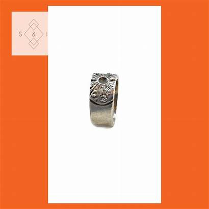Ring Bronze Rings Solid Sculpted Handmade Signet