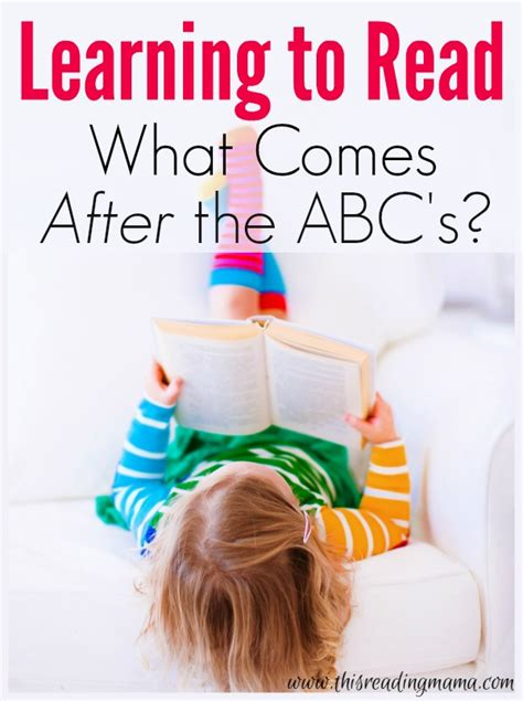 Learn To Read What Comes After The Abcs
