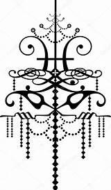 Bracci Lampadario Lampadina sketch template