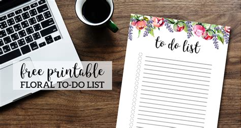 floral   list printable template paper trail design