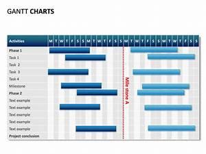 powerpoint slide gantt chart 28 days 1 milestone With milestone chart templates powerpoint