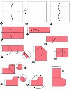 Origami Facile Noel : origami pour les f tes la chaussette ~ Melissatoandfro.com Idées de Décoration
