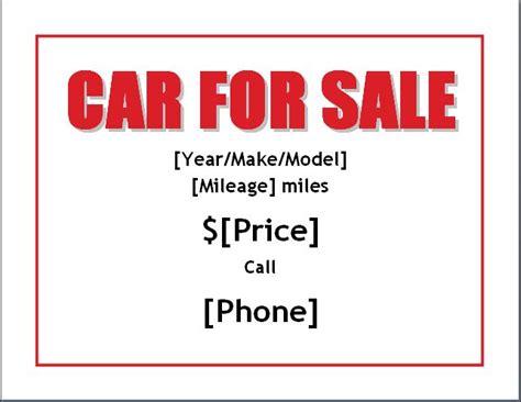 sample car  sale posterflyer template formal word