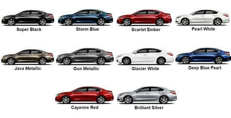 pathfinder nissan black 2017 nissan altima color options 10 colors pictured here