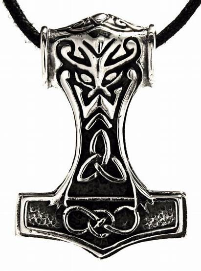 Hammer Thor Both Pendant Sterling Sides Jewelry