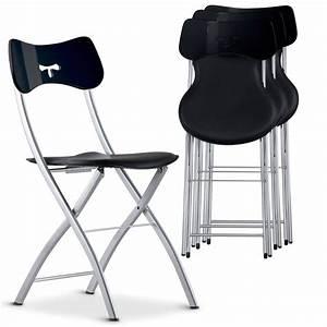 Chaise Pliante Noire : chaise pliante noir tedy ~ Teatrodelosmanantiales.com Idées de Décoration