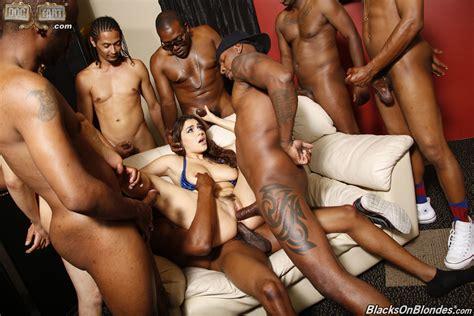 Wallpaper Brunette White Girl Black Men Double