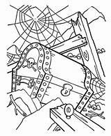 Coloring Shipwreck Treasure Pirate Chest Pages Kidsplaycolor Fish sketch template