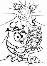 Pancake Coloring Pages Week sketch template
