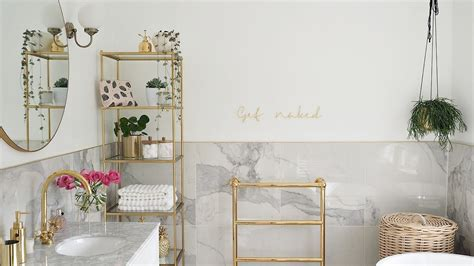 marble gold bathroom reveal youtube