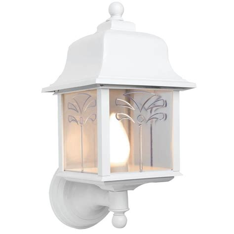 newport coastal palm white outdoor wall mount uplight 7972