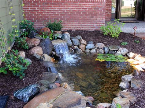 outside ponds backyard waterfall with pond minnesota waterfeatures http www spearslandscape com gallery