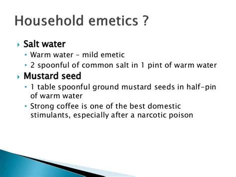 Emetics and antiemetics