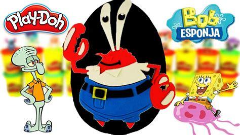 Huevo Sorpresa Gigante del Señor Cangrejo Bob Esponja de