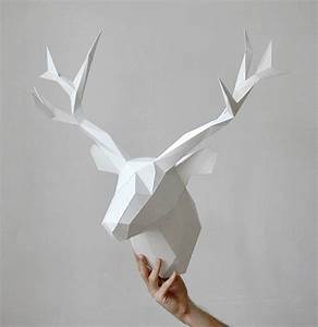 WHITE ANIMAL PAPER HEADS FOR INTERIOR DECORATION – Design